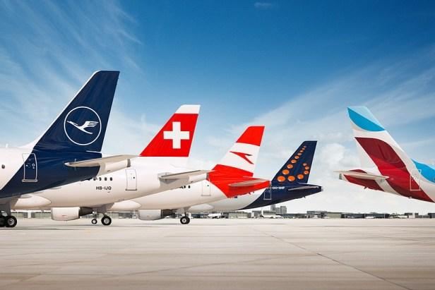 Aerolíneas que forman el Grupo Lufthansa
