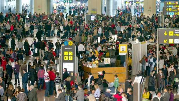 Aeropuerto de Málaga después del cierre del espacio aéreo de España en 2010