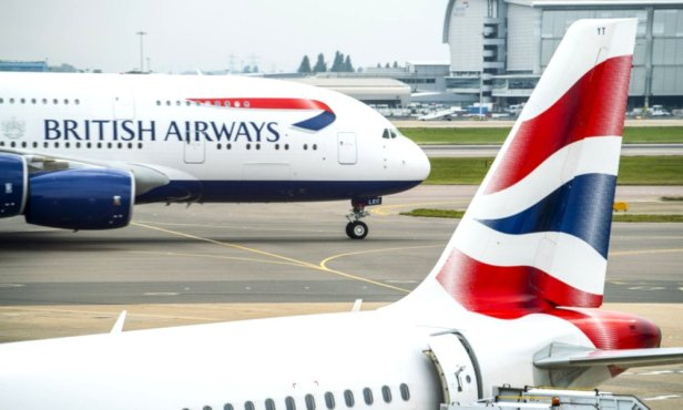 Aviones de British Airways en el Aeropuerto de Londres - Heathrow
