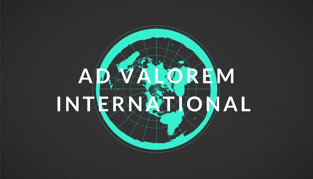 Ad Valorem International Logo, value-based news and information
