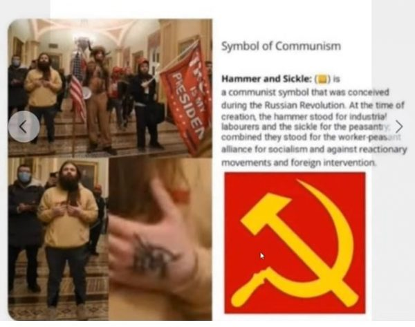 Communist posing as a supporter of President Trump