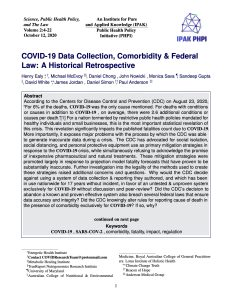 COVID-19 Data Collection, Comorbidity & Federal Law