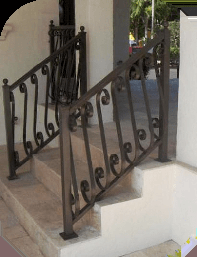 Exterior Stair Railings – Avion Metal Works Of Florida   Outdoor Wrought Iron Stair Railing   Staircase   Marble Staircase   Design   Oak And Iron   Baluster Curved Stylish Overview Stair