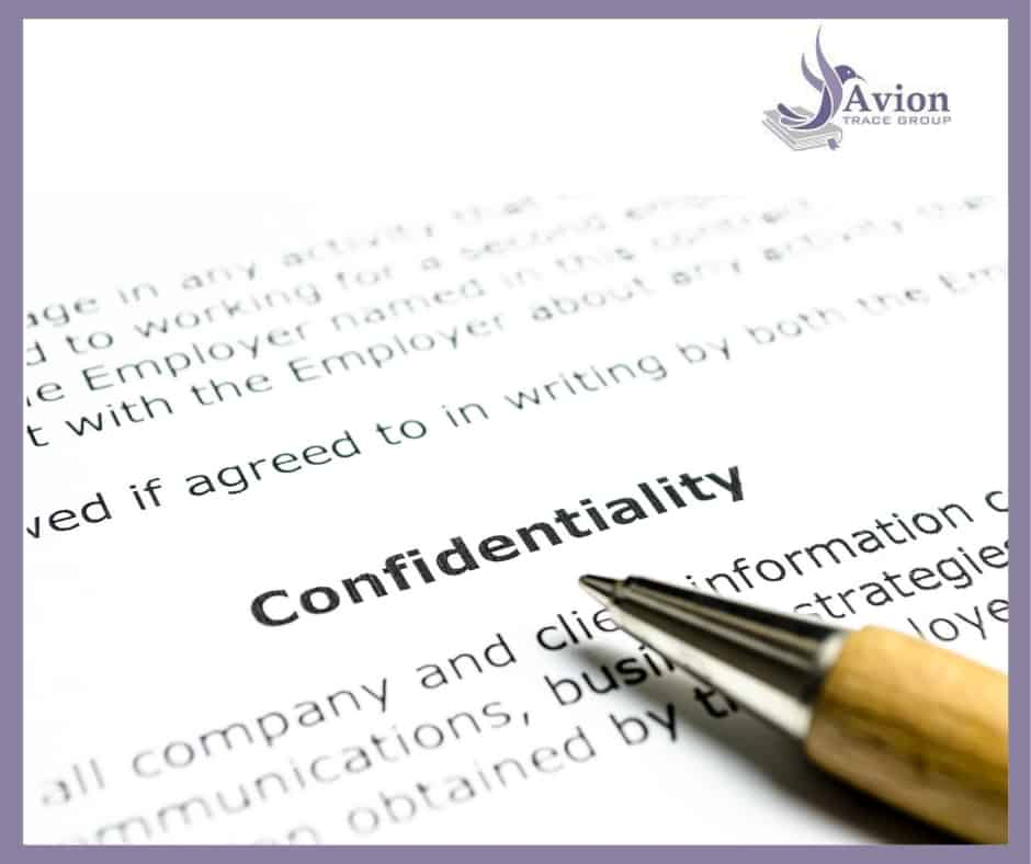 Why is confidentiality important to aircraft records audits