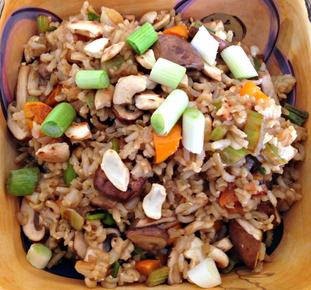 healthy mushroom fried rice
