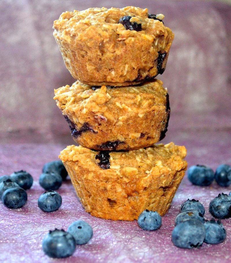 These Blueberry Breakfast Bites are healthy, little muffins crammed full of goodness and oozy blueberries. A great way to start the day!