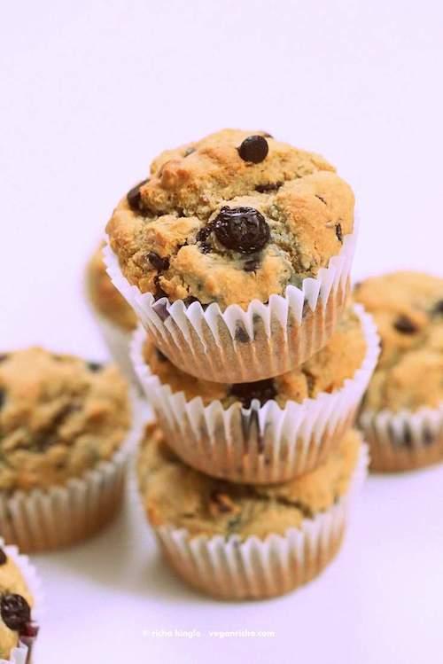Gluten Free Blueberry Chocolate Chip Muffins