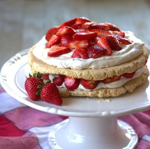 Maple Ginger Vegan Strawberry Shortcake