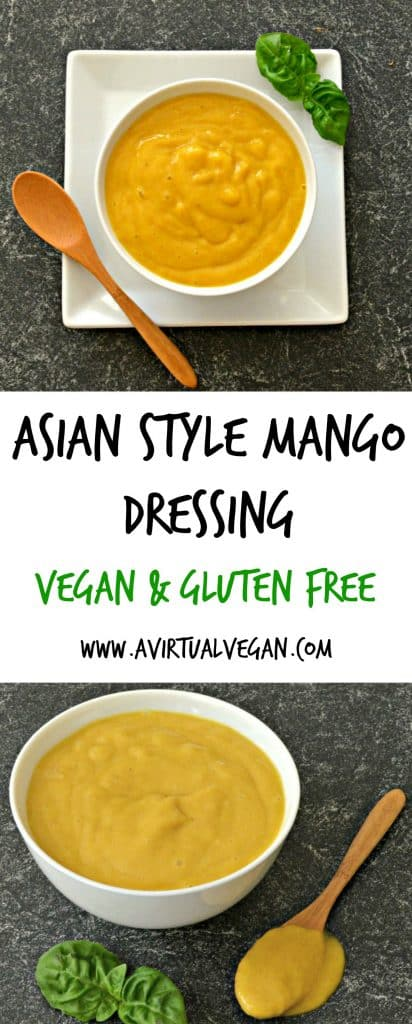 This vibrant & versatile Creamy Mango Asian Dressing is fruity & delicious. It comes together in minutes & is insanely delicious!