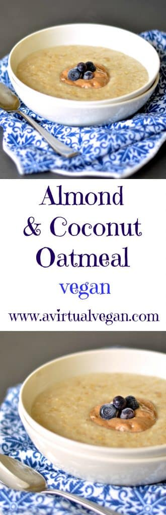 Ultra creamy & delicious oatmeal with subtle natural almond & coconut flavours. A warming & satisfying breakfast for those chilly mornings