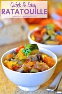 Aromatic herbs & beautiful fresh vegetables come together in this very hearty, super healthy Easy Ratatouille Recipe which combines big flavour with simplicity. A perfect, quick & easy week night dinner!