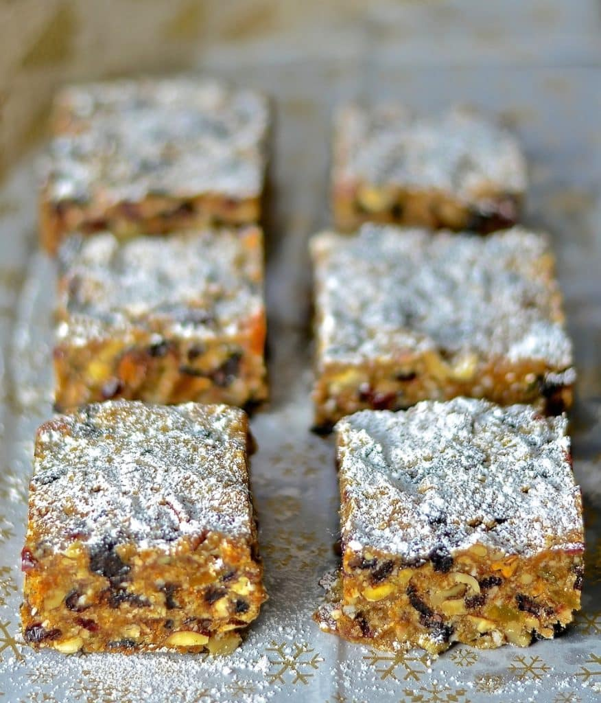 Festive fruit & nut flavours combine in this deliciously rich & moist Raw Vegan Fruit Cake. A fabulous alternative to traditional baked Christmas cake & so easy to make!