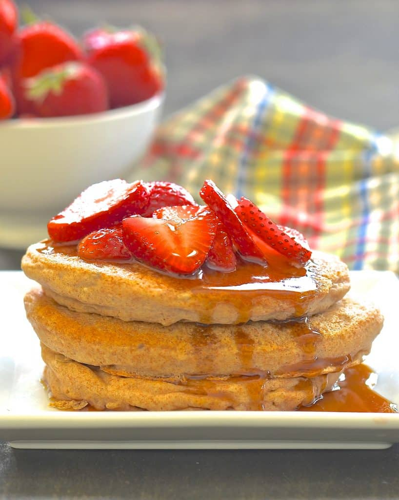Make your breakfast special with these healthy but very delicious, beautifully soft, very fluffy, oil-free vegan pancakes.