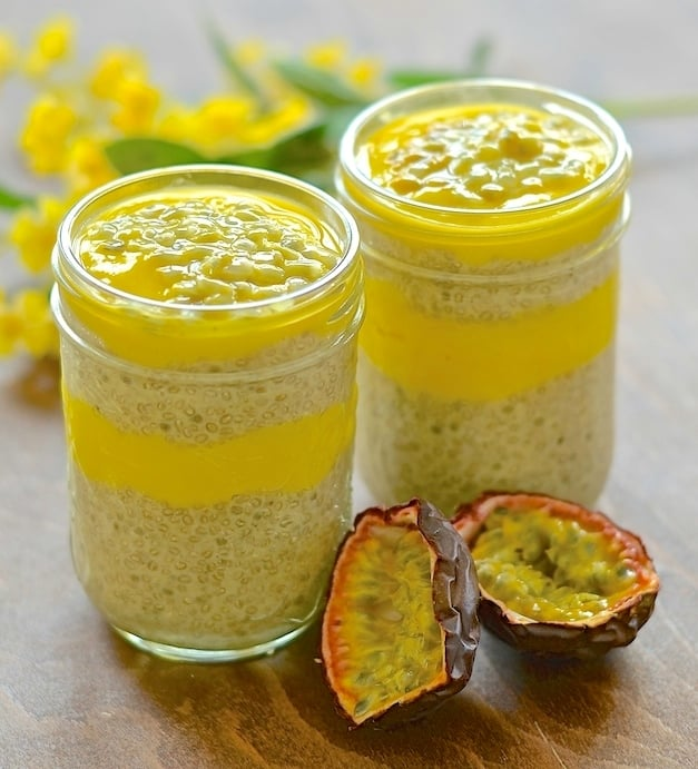 This Banana Chia Pudding with zingy Mango Lime Purée brings a taste of the tropics to your breakfast. It is incredibly easy to make, positively bursting with nutrition & just looking at the wonderful yellow colour will make your day brighter!