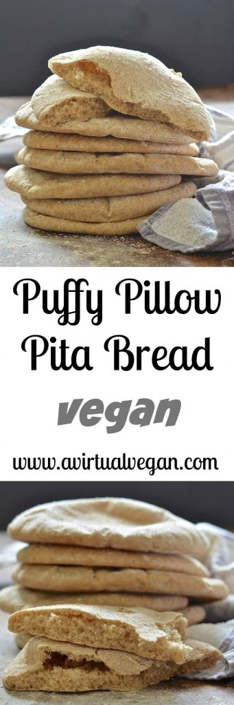 Make your own soft & delicious pita bread. These puffy little pillows are ready from start to finish in less than 1 hour & taste so much better than store bought varieties!