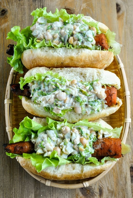 Vegan hot dog carrot dogs 8