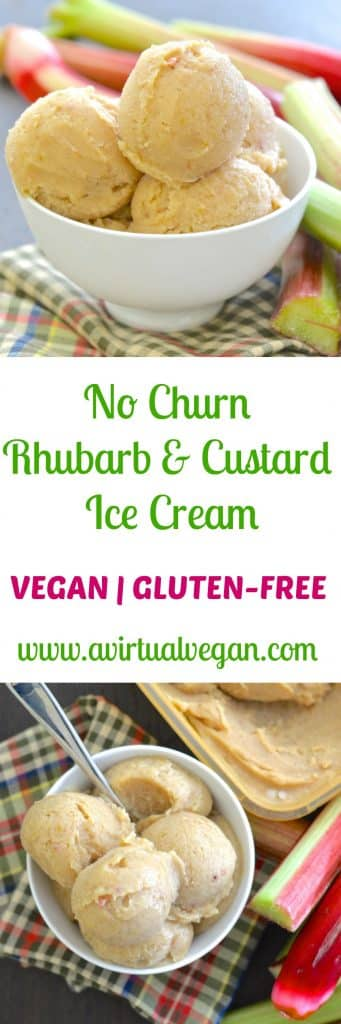 Classic British flavours combine in this really easy, no fuss, No Churn Rhubarb & Custard Ice Cream. It's incredibly easy to make & is secretly healthy!