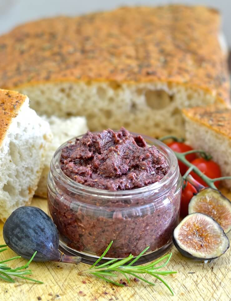 This rich, soft Fig and Black Olive Tapenade with Rosemary is my twist on traditional tapenade. Dark, deep & earthy olives are blended with ripe, plump & juicy figs to make an irresistibly delicious spread with a striking balance of sweet & savoury flavours.