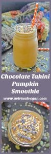 Set yourself up for the day with this velvety smooth, creamy, thick & incredibly delicious Chocolate Tahini Pumpkin Smoothie. It might taste rich enough for dessert but it is healthy, satisfying and full of nutrients!