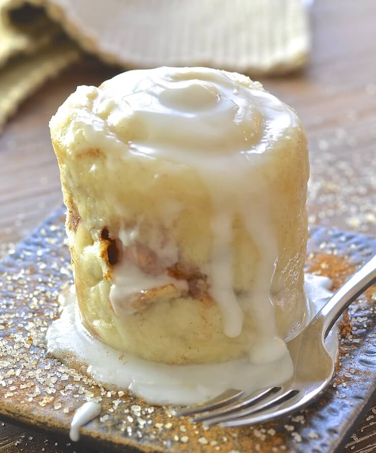 If you have a mug, a microwave & a spoon you can make this single serving One minute Cinnamon Roll in a Mug. It's so easy & perfect for when those sweet cravings hit & you NEED dessert, like now!