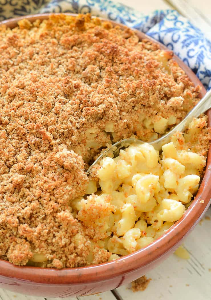 The best Vegan Mac and Cheese baked to perfection!
