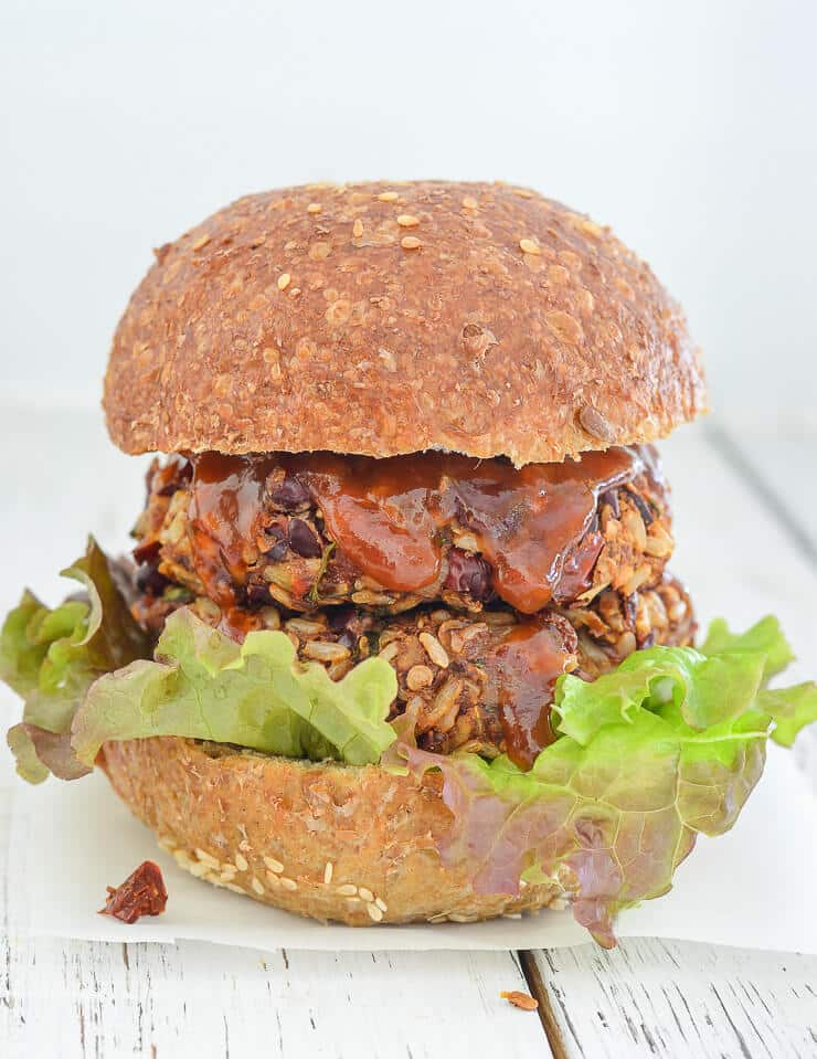 Mexican Burgers With Adobo Sauce A Virtual Vegan