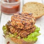 Where do I even begin with these lip smackingly good Chipotle Veggie Burgers? They are so incredibly delicious & the sticky, sweet, spicy sauce just takes them OVER the top!