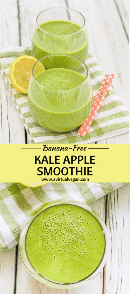 This Kale Apple Smoothie is quick & easy to make, full of good for you ingredients & will help get your day off to a great start. And for you banana haters out there, it's banana free!