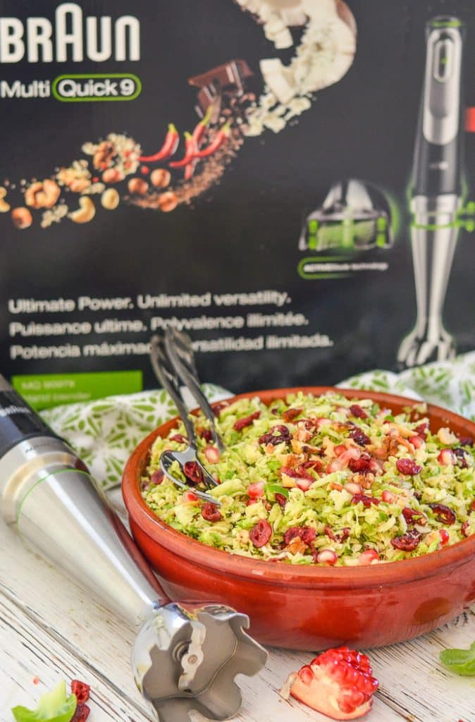 Cranberry Pecan Brussels Sprout Salad with Braun MultiQuick 9