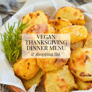 Flying by the seat of your pants is all well and good, and it's something I do all too often, but for a stress-free, much more budget friendly Thanksgiving, a little organization goes a long way. That's where my Vegan Thanksgiving Dinner Menu & Shopping List come in!