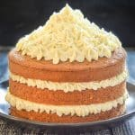 Earl Grey Vegan Cake with Lemon Frosting