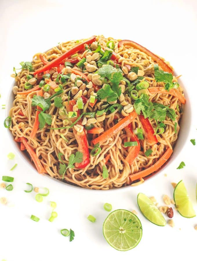 Made in only 15 minutes, these tasty Peanut Noodles are your new midweek secret weapon. They are so easy to throw together!