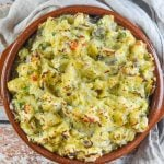 Bubble & Squeak in terracotta round dish