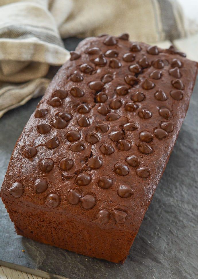 a loaf of Vegan Chocolate Banana Bread
