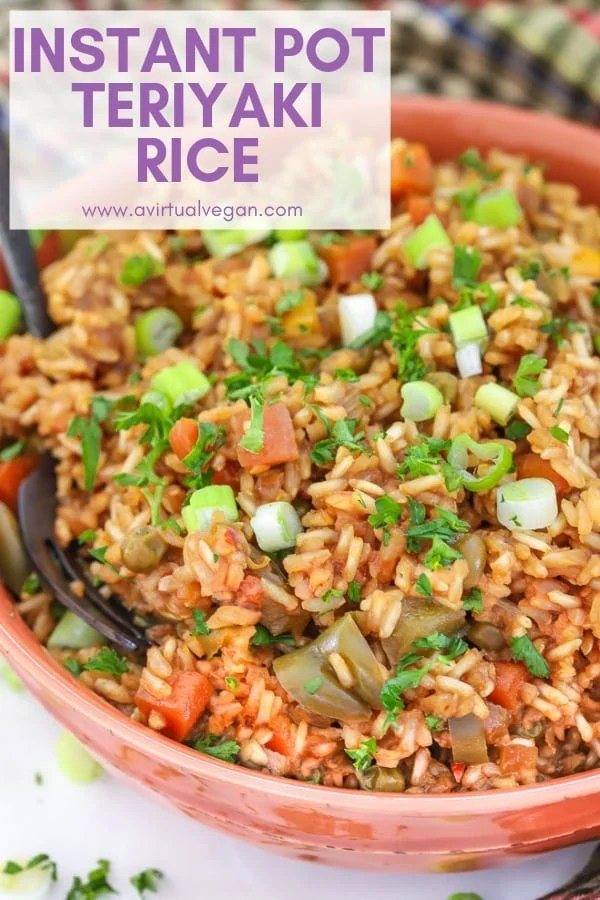 A complete meal made in one-pot, this Teriyaki Instant Pot Rice will be a great addition to your mid week dinner rotation. It's so easy! Stovetop instructions are included too in case you don't have an Instant Pot.