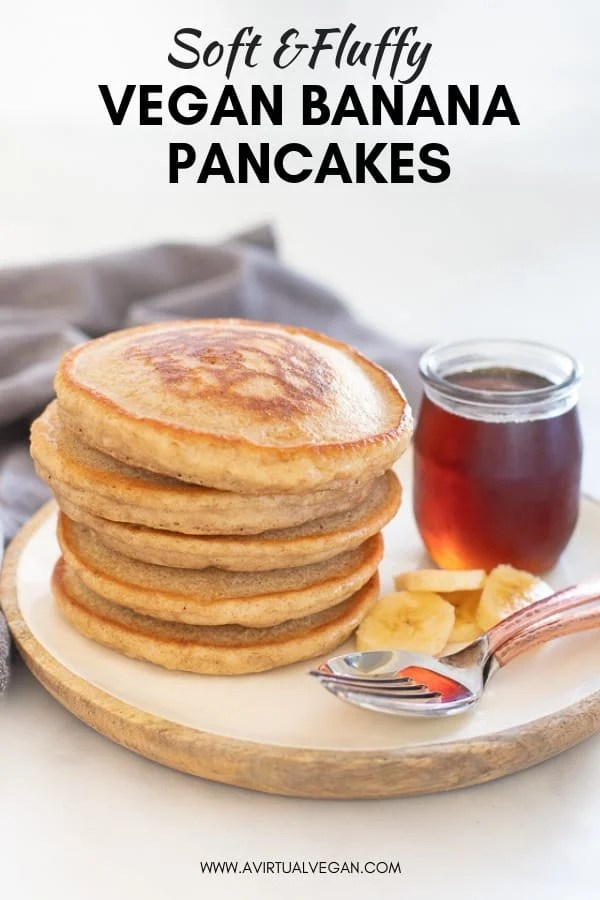 Hands down THE best Vegan Banana Pancakes. They are soft, fluffy, super delicious and so simple to make, from scratch, in a blender. This is an essential, keep handy in your back pocket, recipe that everyone needs for an easy, yet decadent breakfast!