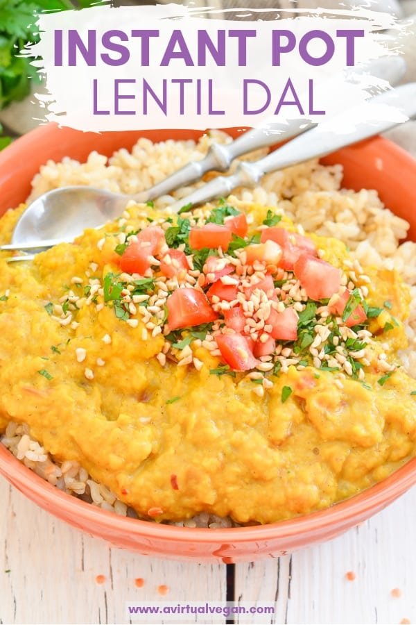 Transform your red lentils into something amazing with my creamy Instant Pot Lentil Dal.  It makes a really easy, super tasty, healthy & budget friendly dinner and is perfect for meal prepping as it reheats and freezes perfectly!