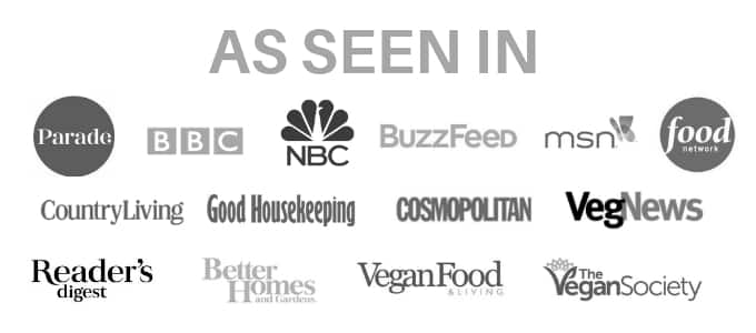 A Virtual Vegan featured in logos