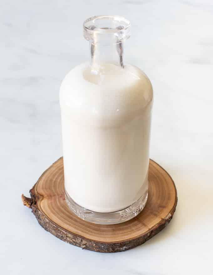 a full bottle of cashew milk