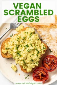 This easy foolproof recipe will get you perfect Vegan Scrambled Eggs every time!. We're talking soft, rich, buttery, on the verge of custardy and just perfect for piling on thick, hot, buttered toast. And as an added bonus, it packs a massive protein punch of 14 g per serving!