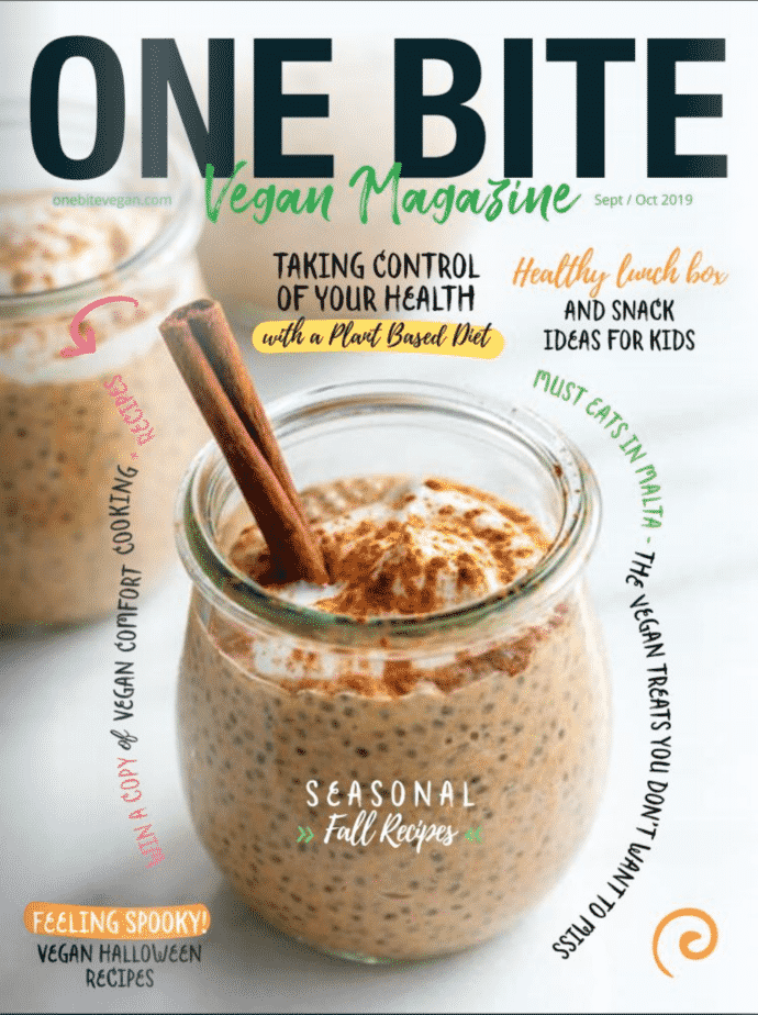 Vegan Comfort Cooking feature in One Bite Vegan Magazine