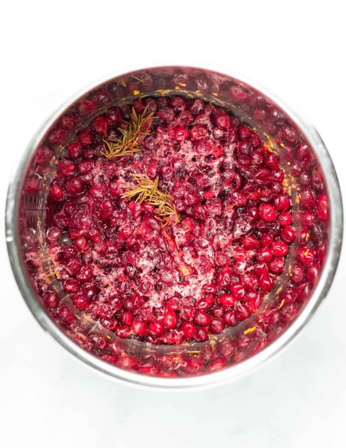 cooked cranberry in an Instant Pot
