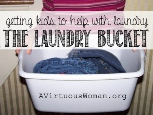 Getting Kids to Help with the Laundry | A Virtuous Woman