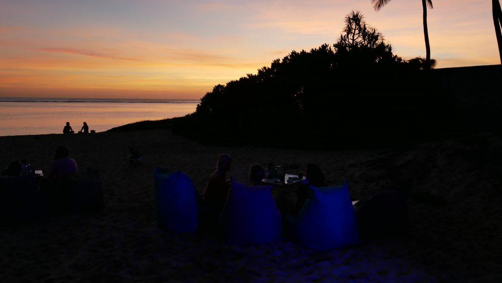 coucher de soleil la reunion l uni vert trou deau 8