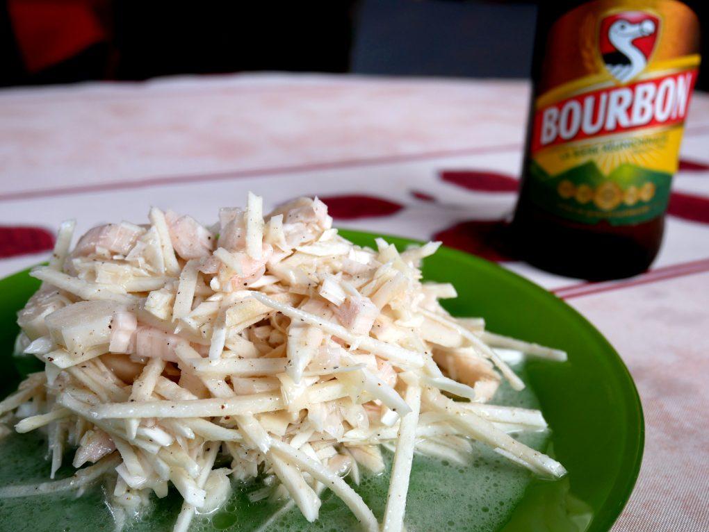 bonne adresse restaurant traditionnel creole chez moustache saint philippe la reunion 974 salade palmiste