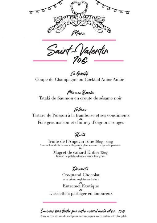 saint valentin la reunion menu restaurant saint pierre sauvage 974