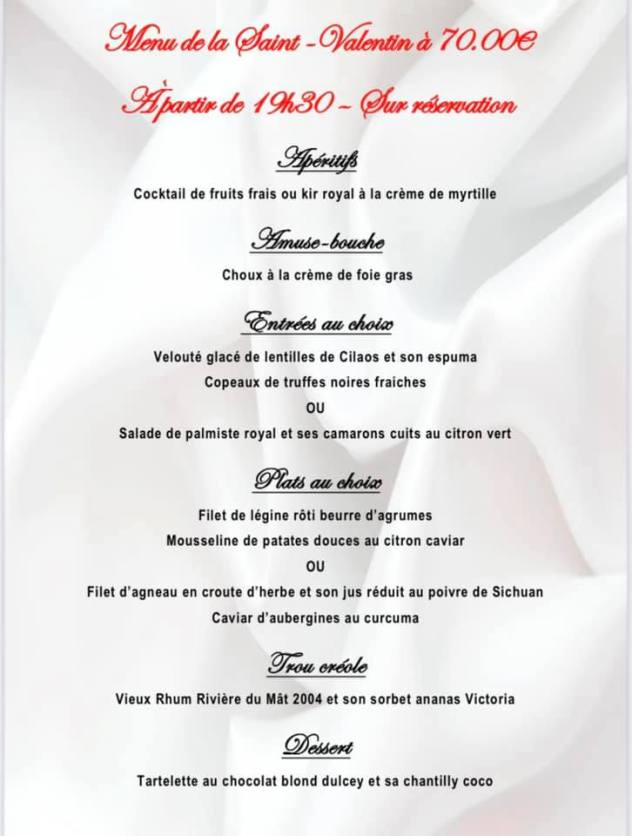 saint valentin 2021 restaurant saint gilles kaz saveurs reunion