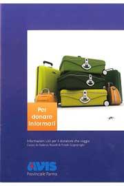 """Immagine di copertina del secondo """"Per donare informati"""": due opuscoli realizzati dall'Avis Provinciale di Parma"""