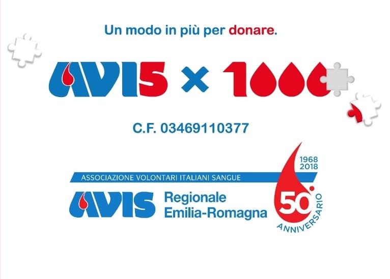 dona il tuo 5 per mille ad avis emilia-romagna per il suo cinquantesimo!