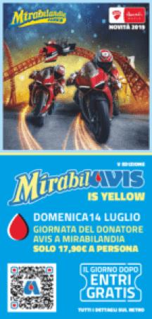 Volantino Avis Mirabilandia 2019